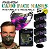 Camo Design Reusable Face Masks - 288pc per Display