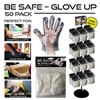 50 Pack Disposable Gloves Display - 288pc per Display