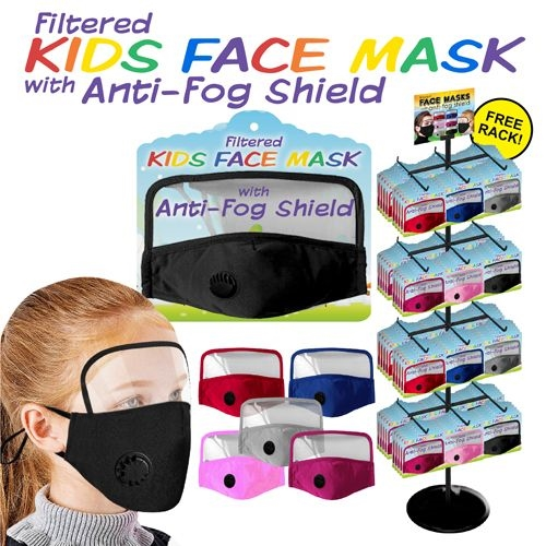 Face Mask & Shield 288pc Display (Kids)