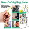 144pc Germ Safety Keychain Counter Display