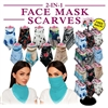 Fashionable Ladies 2-in-1 Face Mask Scarves Display - 144pc per Display