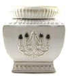 Tyler Candle - Chandelier Aged White - Radiant Fragrance Warmer