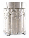 Tyler Candle - Ornate Brushed Platinum - Radiant Fragrance Warmer