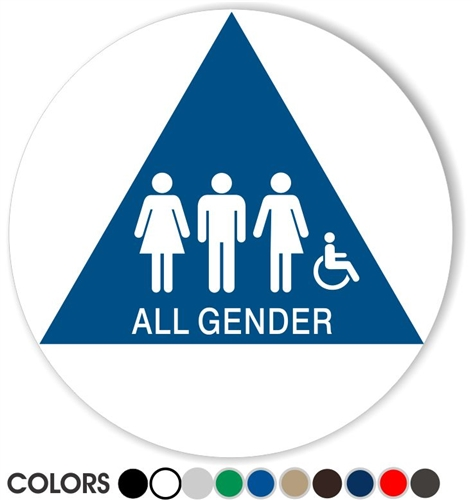 All Gender California Restroom Sign Gender Neutral Bathroom Sign