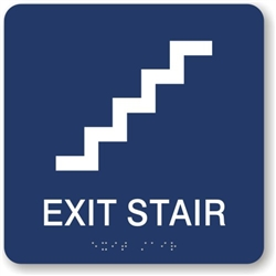Exit Stair directional Braille Sign