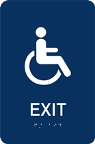 ADA Braille Exit Sign