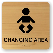 Baby Changing Braille Sign