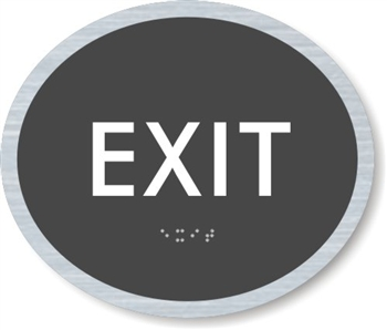 Exit ADA Braille Sign