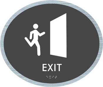 Exit braille ADA Sign