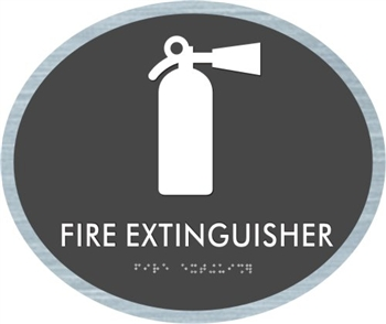Fire Extinguisher braille ADA Sign