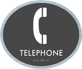 Telephone braille ADA Sign