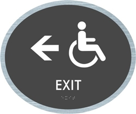 Handicap Exit braille ADA Sign