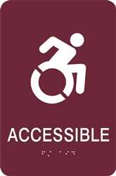ADA Braille Accessible Sign