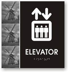 Elevator Braille Sign