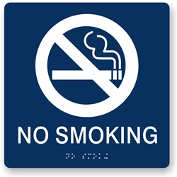No Smoking Braille Sign
