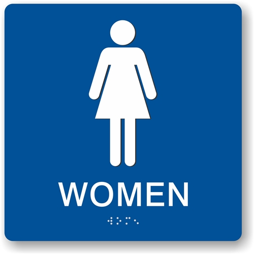 Women S Restroom Braille Sign To Meet Ada Requirements For