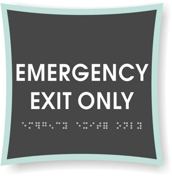 EMERGENCY EXIT Braille Sign