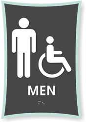 Men's Braille Sign