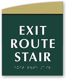 EXIT ROUTE STAIR  Braille Sign