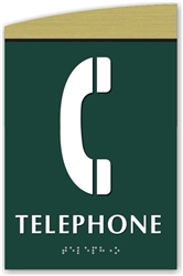 Braille Telephone Sign