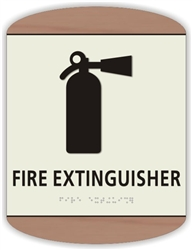 Braille Fire Extinguisher Sign