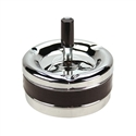Spinning Cigar Ashtray with Black Leather Band