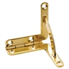 Polished Solid Brass Quadrant Hinge Set