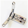 Nickel Plated Solid Brass Quadrant Hinge Set