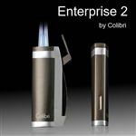 Colibri Enterprise 2 Lighter, Black & Rose Gold