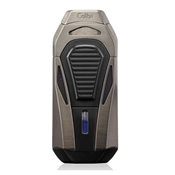 Colibri Boss Lighter - Gunmetal & Black - Triple Flame Lighter w/ Double Guillotine Cigar Cutter