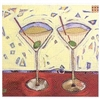 Martinis pour deux Cocktail Napkins by Karyn Young