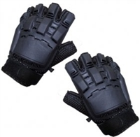 Paintball-gloves half finger/black xl