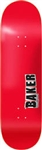 Baker Skateboards J Bone Deck Red - 8.0""