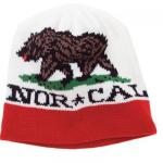 Nor Cal Beanies Republic Skull Cap - White