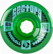 Sector 9 Wheels Nineballs Top Shelf Green - 65mm