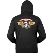 Powell Zip Up Winged Ripper Black