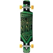 Sector 9 Longboards Slingshot Green Custom Complete - 40.5""