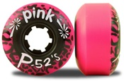 Abec 11 Pink P-52 slateboard wheels - 52mm/96a