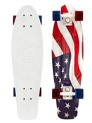 "Penny Skateboards Nickel USA Flag 27"" Fourth of July"