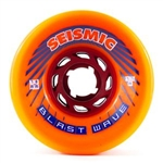 Seismic Wheels - Blast Wave 78mm x 50mm- 77A - Solid Orange