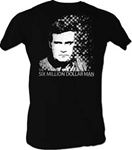 Six Million Dollar Man Shirt 6Mil Pixel - Black