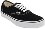 Vans Authentic shoes - Black / White Sole
