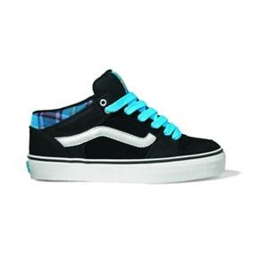 vans girls shoes tnt 2 mid black blue plaid