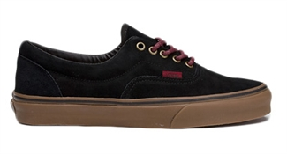Vans Shoes Suede Era - Black/Port/Gum