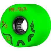 Powell Skateboard Wheels All Terrain  - 59mm/78a - Green Snakes