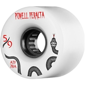Powell Skateboard Wheels All Terrain  - 59mm/78a - White Snakes
