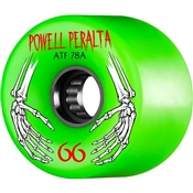 Powell Skateboard Wheels All Terrain  - 66mm/78a - Green Hands