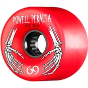 Powell Skateboard Wheels All Terrain  - 69mm/78a - Red Hands