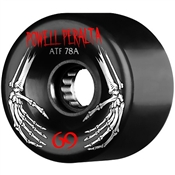 Powell Skateboard Wheels All Terrain  - 69mm/78a - Black Hands