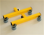Add-on locking caster feet, Yellow